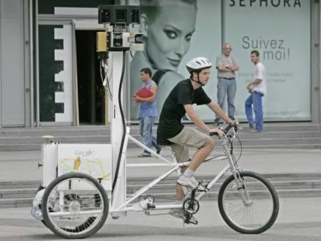 Fotografer Sepeda bagi Google Maps