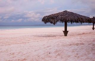 Pantai berpasir merah muda di Harbour Island, Bahamas
