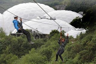Skywire di Taman Eden Project, Inggris